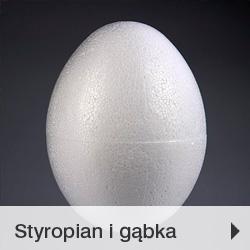 Styropianowe jajka i gąbka florystyczna